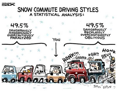 CARTOON-Snow-driving